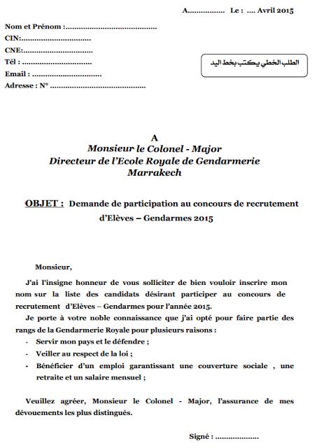 Exemple De Demande Manuscrite Pour Concours Pdf - Exemple ...