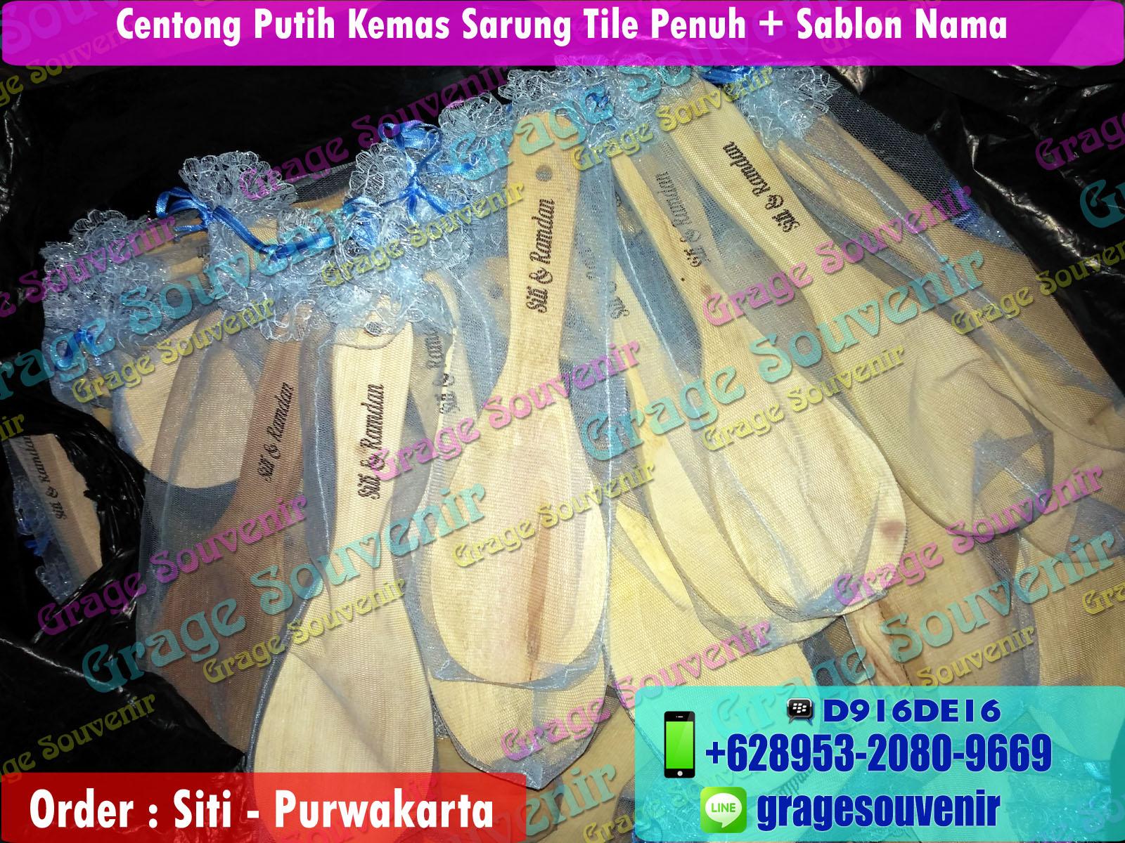 Jual Souvenir Purwakarta Murah Centong Kayu Kemas Tile