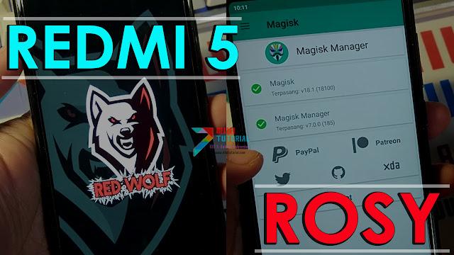TWRP Redwolf + Root Magisk di Xiaomi Redmi 5 Rosy: Paket Lengkap Bisa Update OTA MIUI
