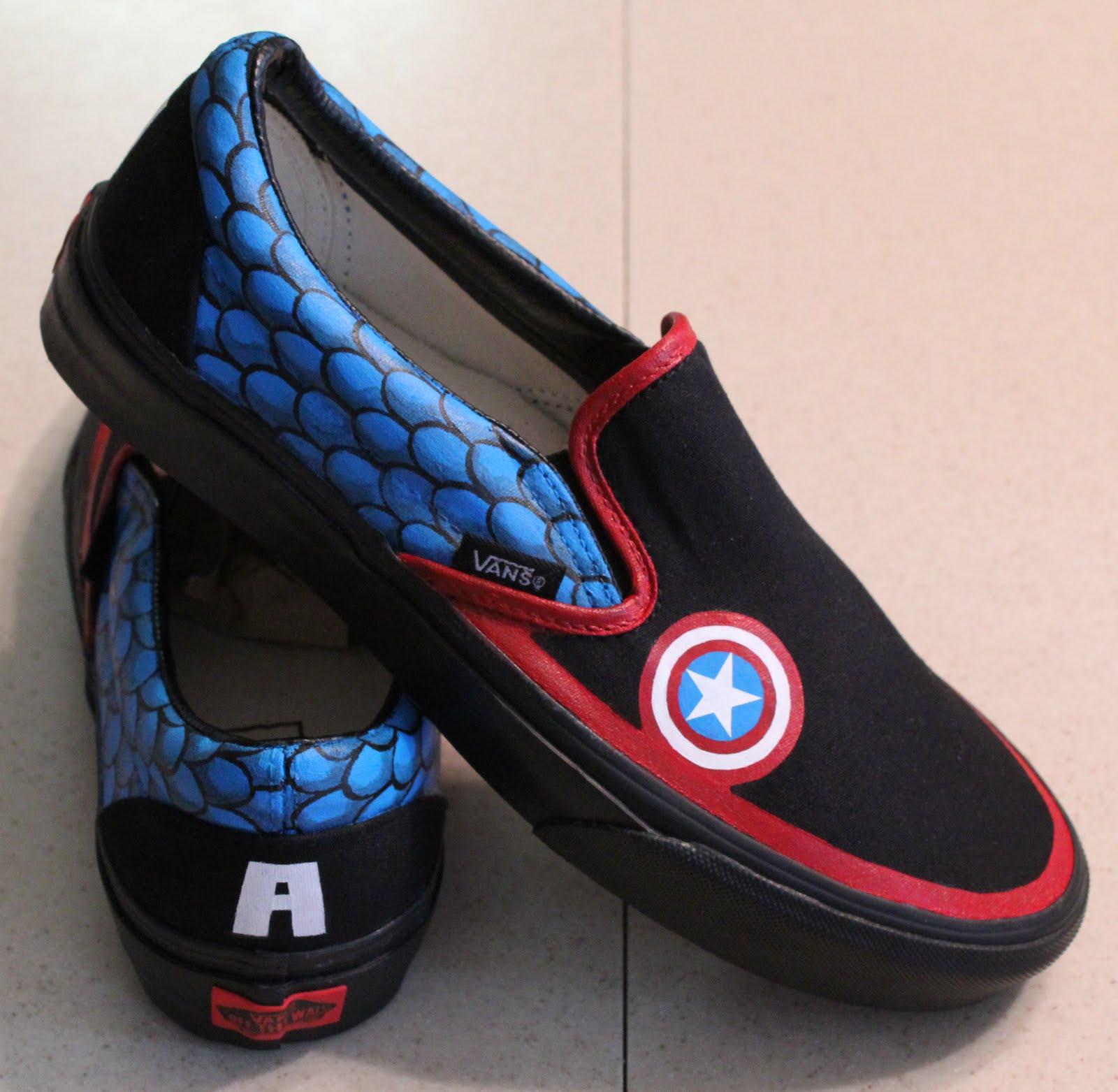 af3e4f72bd Jenn  D  Captain America Vans