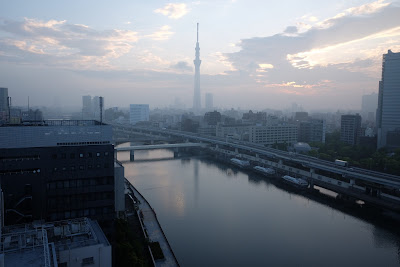 The Tokyo Skytree enveloped in morning spring haze.
