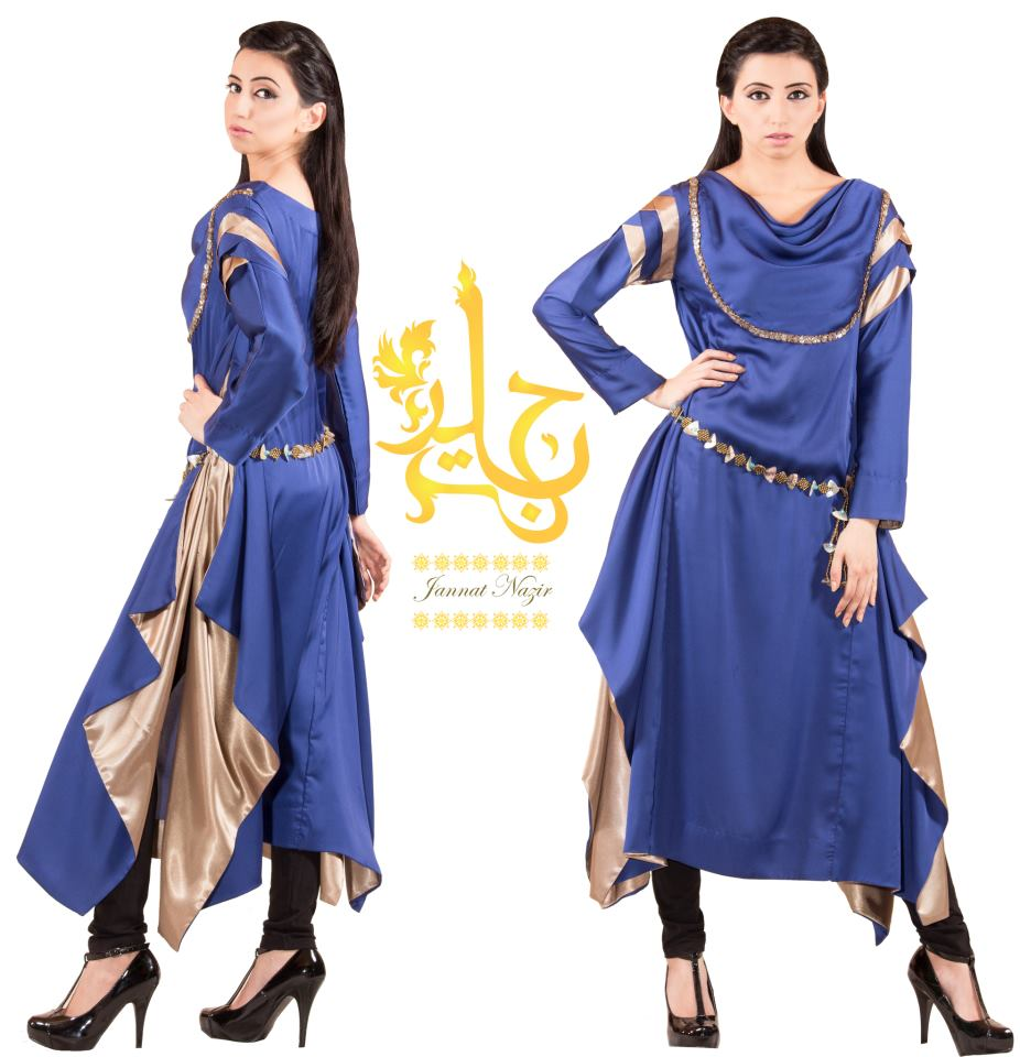 Birthday Dress Collection: Jannat Nazir Summer Party Wear Collection 2013 For Women