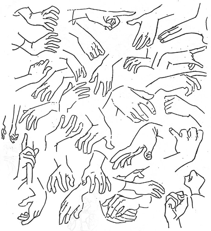 This is a photo of Slobbery Hand Drawing Poses