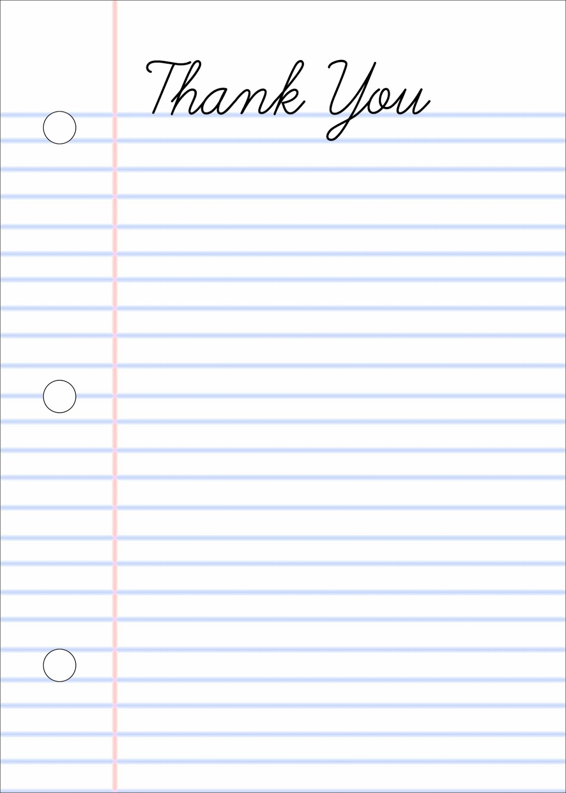 This is a picture of Free Printable Notebook Paper with border