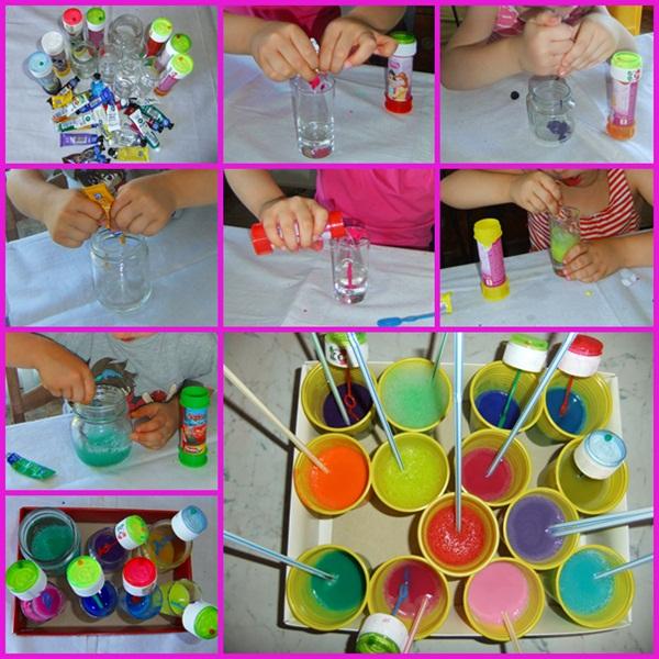 Top Studiamando liberamente: Dipingere con l'aria: bolle colorate  NP14