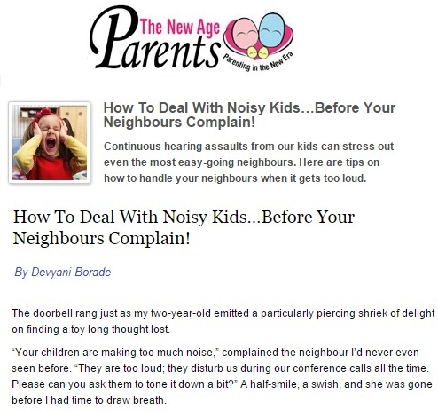 How To Deal With Noisy Kids Before Your Neighbours Complain