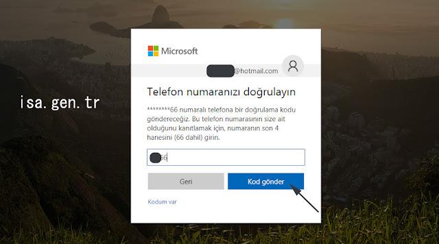 microsoft hotmail kapatma