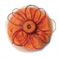 Broche redecilla shantung en naranjas