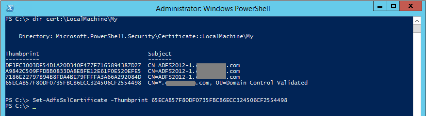 How to Update Certificates for AD FS 3 0 | The EXPTA {blog}