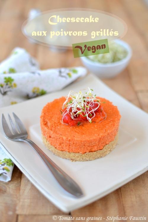 Cheesecake vegan aux poivrons grillés
