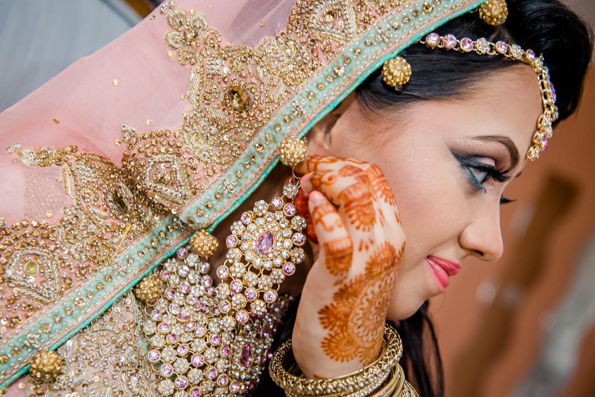 Beautiful Indian Bride On Her Big Day.
