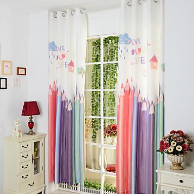 Cortinas Dobles Dormitorio Infantil Lapiceros