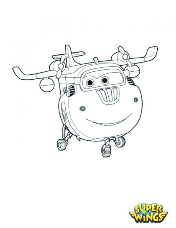 Coloring pages for kids free images: Super Wings free ...