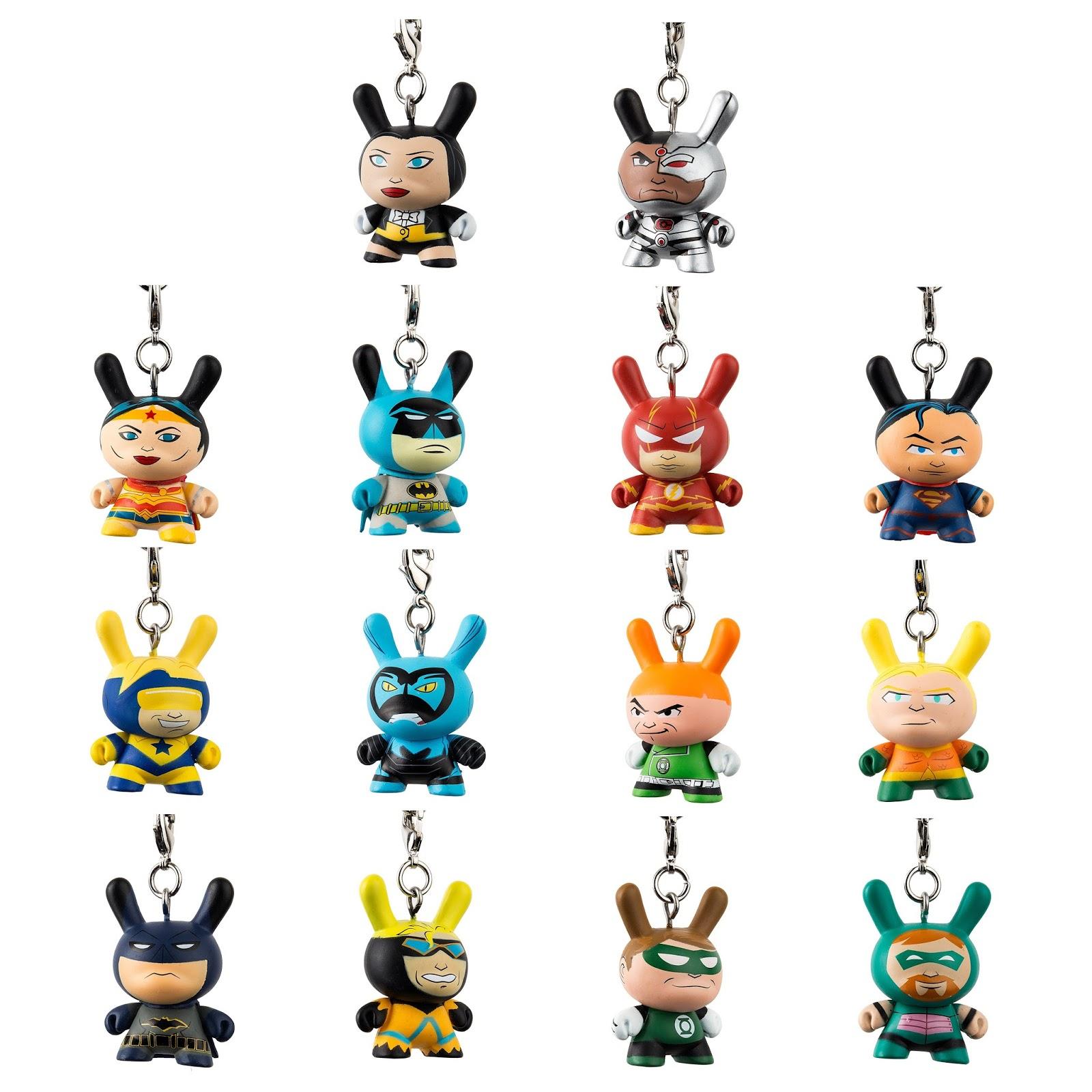Kidrobot Justice League Dunny Key Chain Mini-Figure Blue Beetle