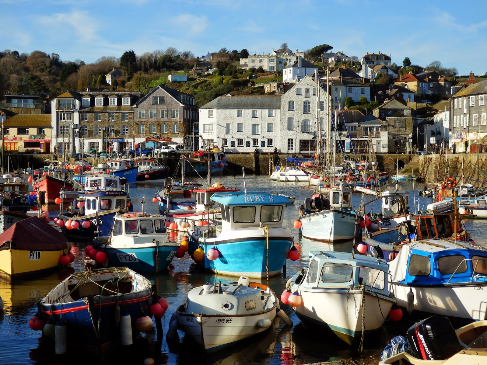 Mevagissey fishing boats Cornwall
