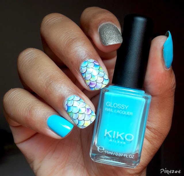 Kiko 707 - Blue Mermaid Nails