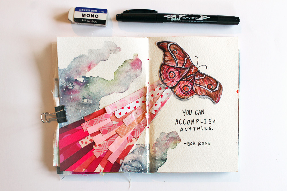Punk projects get messy 2016 creative team blog hop for Minimal art journal