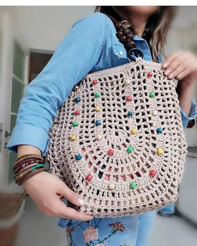 Bolsa Punto calado en crochet # 3, paso a paso