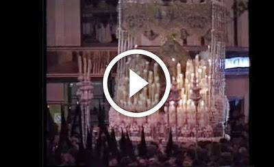 Sentencia y Macarena en Campana en la Madrugá de la Semana Santa de Sevilla del año 1994
