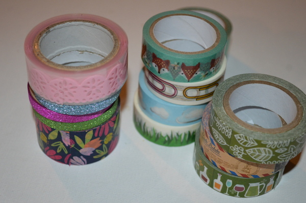 Washi Tape from Target, Joann's, Dollar Tree