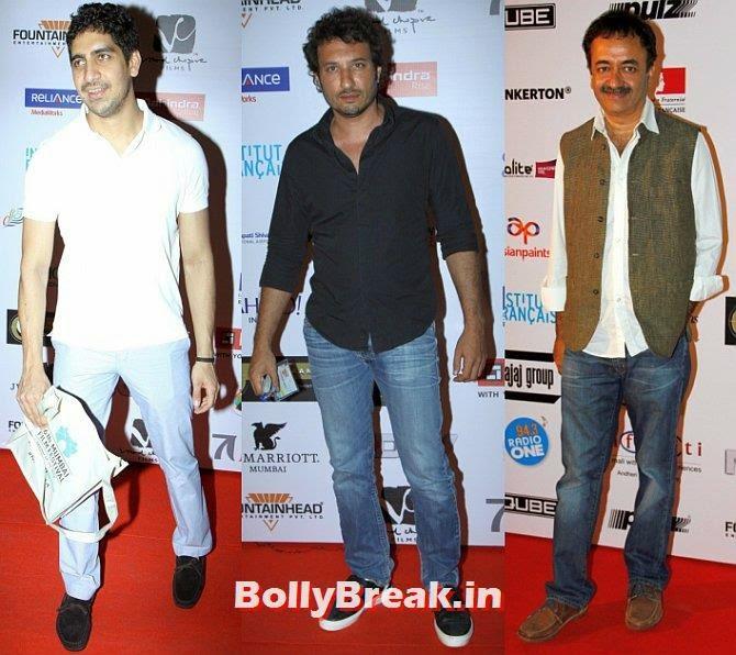 Ayan Mukerji, Homi Adajania, Rajkumar Hirani, Mumbai Film Festival 2014 Photos