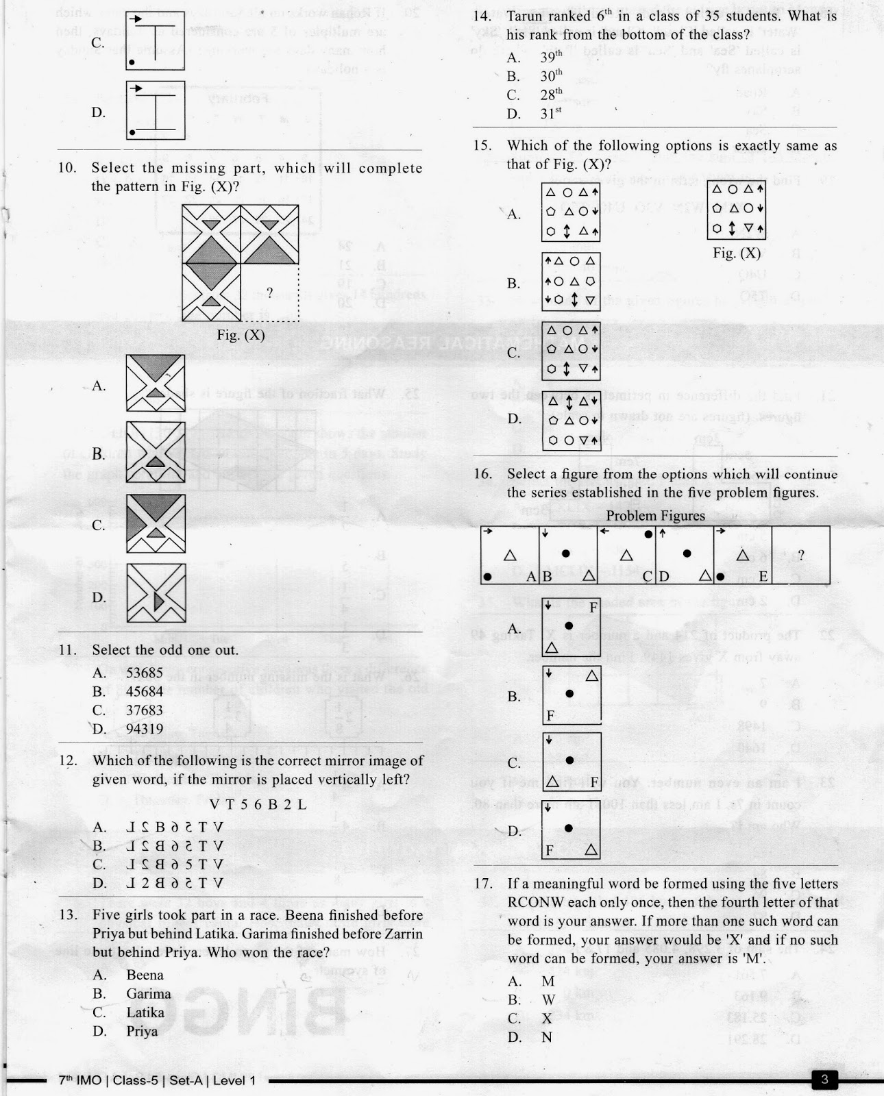 Math Olympiad Questions For Class 5