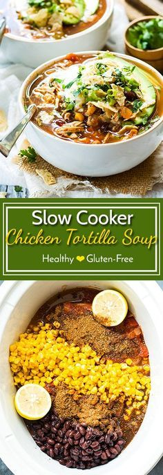 Easy Slow Cooker Chicken Tortilla Soup Recipe