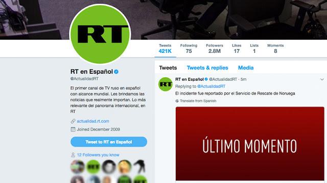 Twitter bloquea el contenido de RT y Sputnik