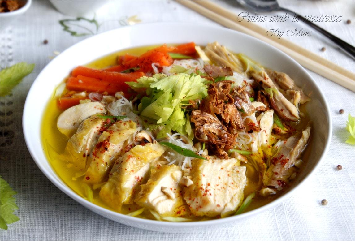Cuina Amb La Mestressa: Sopa De Pollo Con Noodles Estilo