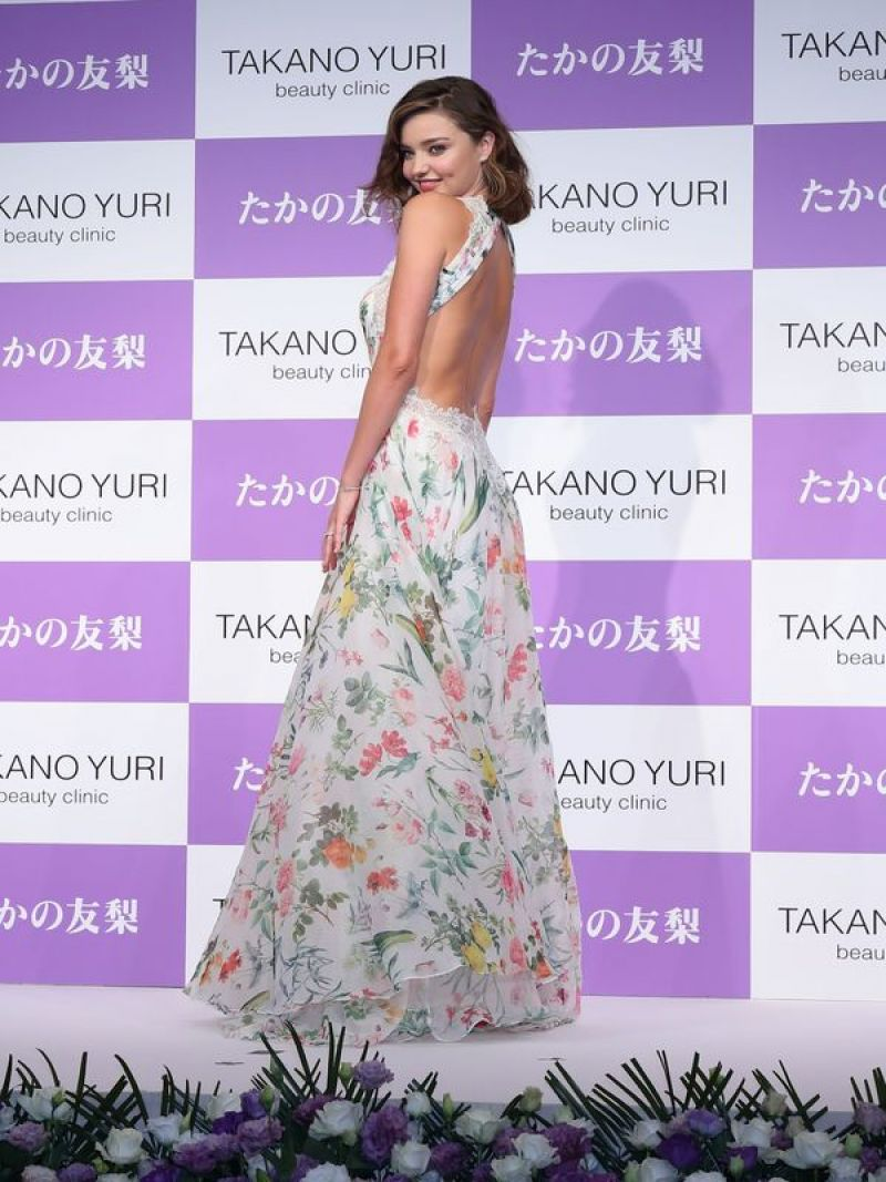 Miranda Kerr is gorgeous in florals at beauty event in Tokyo
