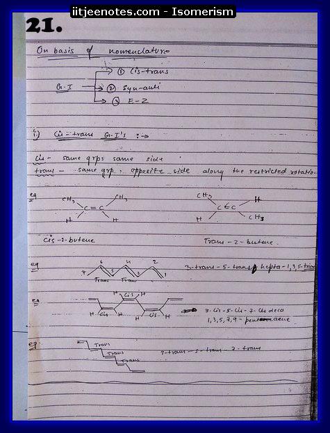 Isomerism Notes5