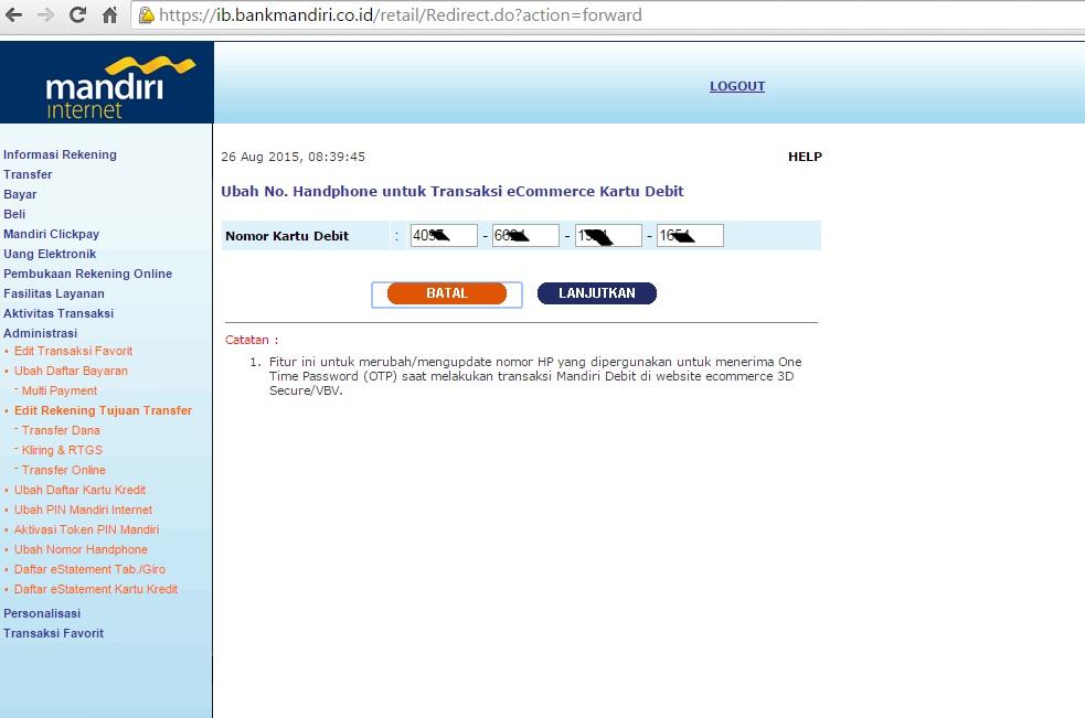 Cara Aktivasi Kartu Debit Mandiri Untuk Bisa Bertransaksi Online