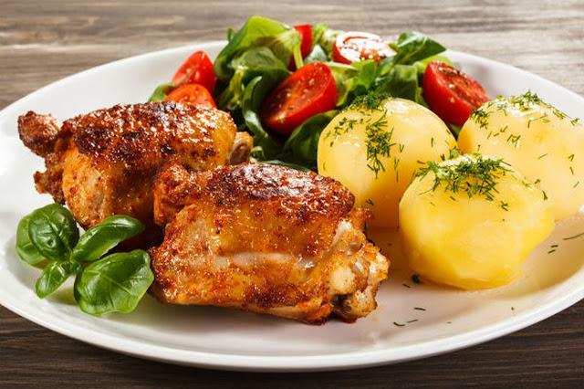 اوراك الدجاج بالأعشاب