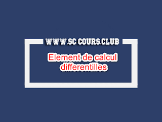 Element de calcul differentilles