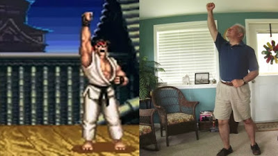 Genius Man Gets Father To Re-inact The Wins of Street Fighter II