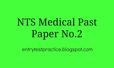 NTS MCAT Past Paper 2