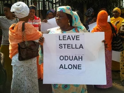 stella oduah paid supporters abuja