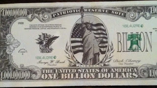 Fake one billion dollar bill