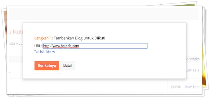 Langkah 4 Cara Follow Blog di Blogger Tampilan Terbaru