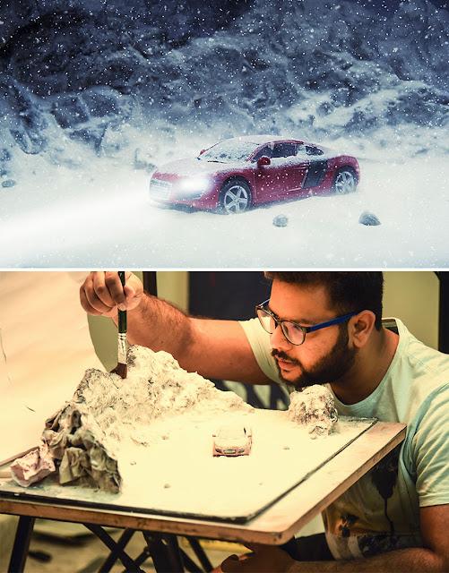 Vatsal Kataria Impresionantes fotografías realistas con maquetas y objetos a escala