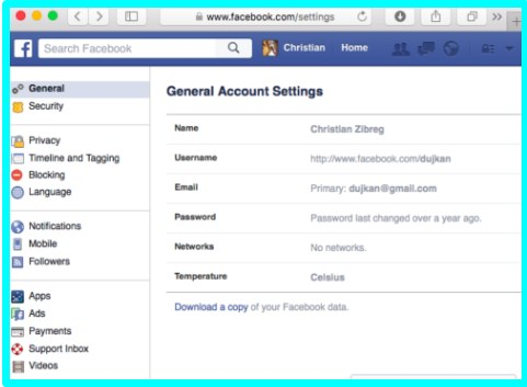 How to download content from facebook