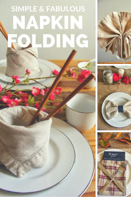 4 simple ways to fold serviettes / napkins.