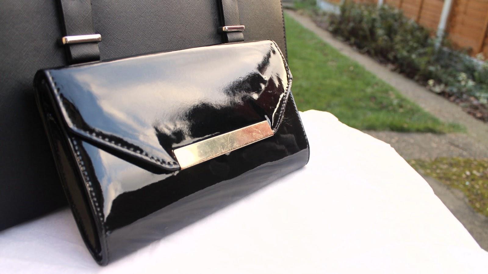 Black & Gold Clutch Handbag
