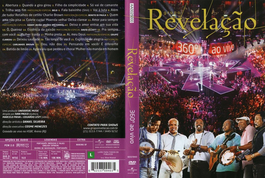 DVD Revelação - 360° Ao Vivo AVI-DVD-R (2012)