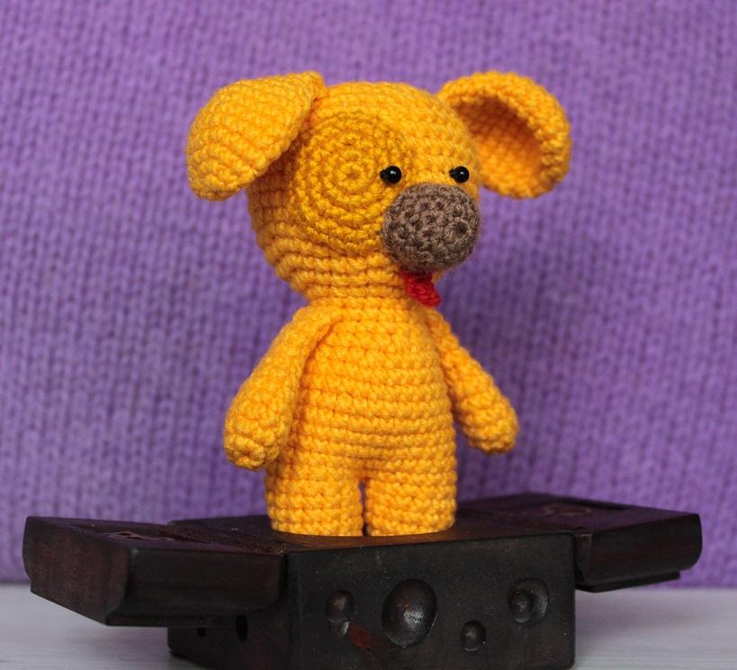 Собачка амигуруми вязаная игрушка