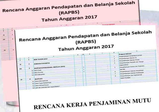 Format Laporan Keuangan, Rencana Kerja Sekolah Sesuai Juknis Baru