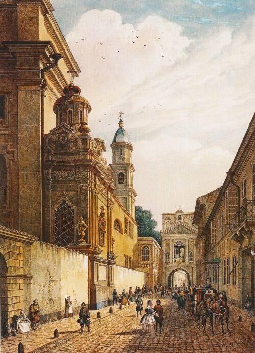 Острая брама (Острые ворота), рисунок 1847 г.