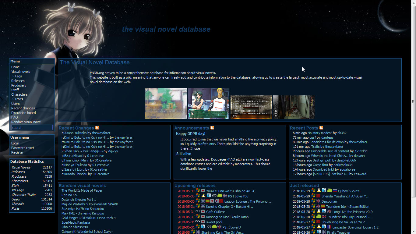 Vndb org : Website Referensi Game Visual novel terlengkap