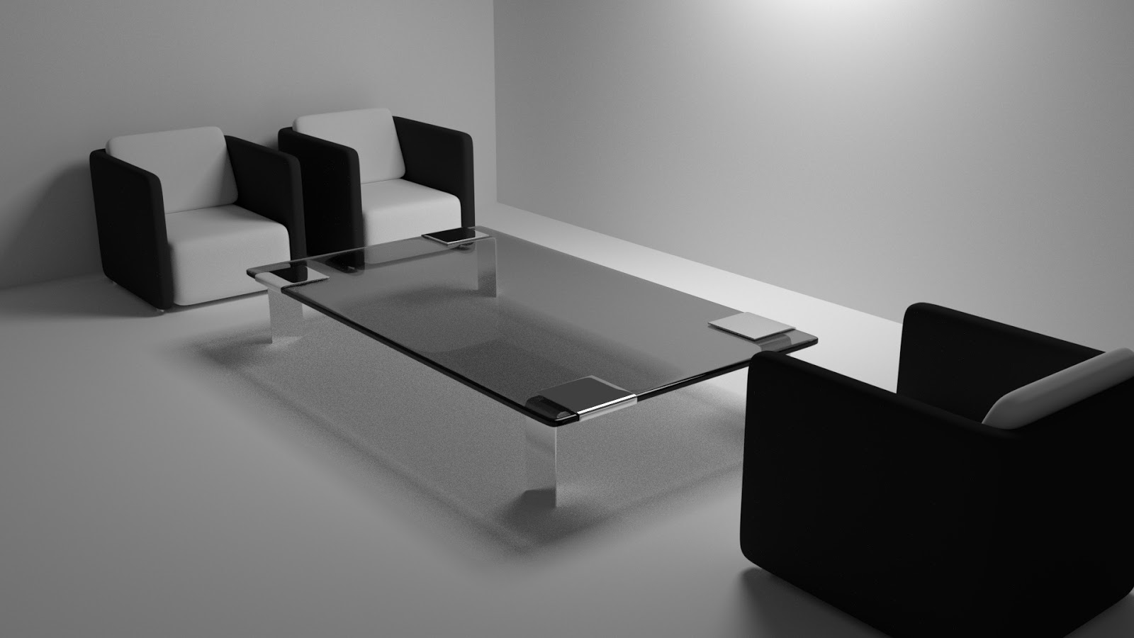 Free 3D Table & Chair Minimalist .blend file
