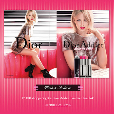 FREE Dior Addict Lacquer Lipstick Trial Kit Giveaway